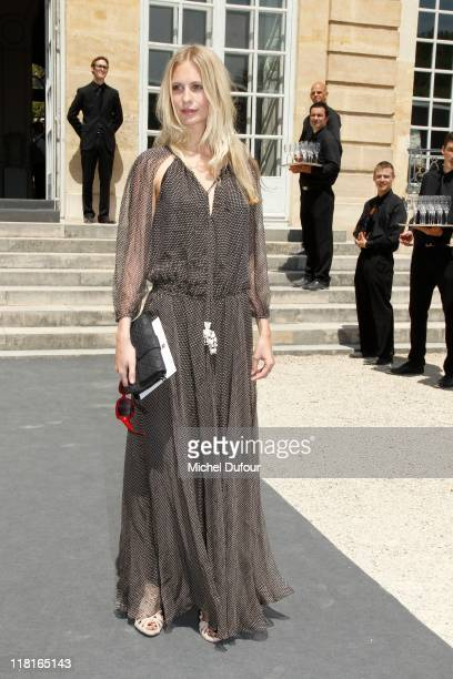 Poppy Delevingne Arrives the Christian Dior Haute Couture Fall/Winter 2011/2012 show as part of Paris Fashion Week at Musee Rodin on July 4 2011 in...
