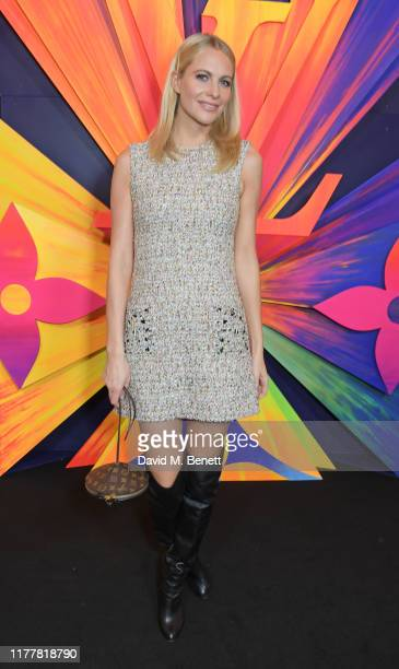 Poppy Delevingne attends an after party celebrating the re-opening of the Louis Vuitton New Bond Street Maison at Annabel's on October 23, 2019 in...