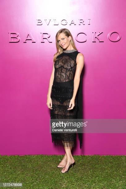 Poppy Delevingne attends Bulgari Barocco on September 14, 2020 in Rome, Italy.