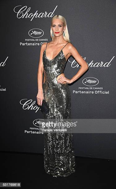 Poppy Delevingne attends Chopard Wild Party as part of The 69th Annual Cannes Film Festival at Port Canto on May 16 2016 in Cannes France