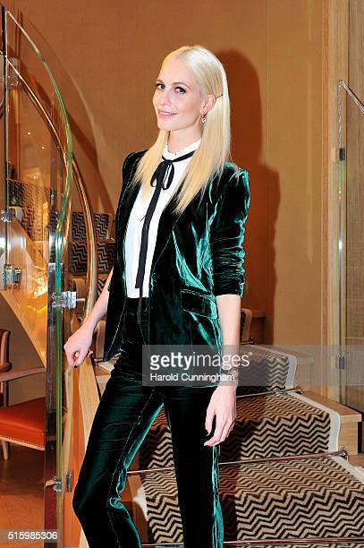 Poppy Delevingne attends Chopard's Happy Diamonds cocktail during Baselworld on March 16 2016 in Basel Switzerland