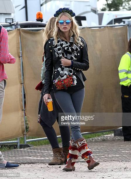 Poppy Delevingne attends day 4 of the 2013 Glastonbury Festival at Worthy Farm on June 30 2013 in Glastonbury England