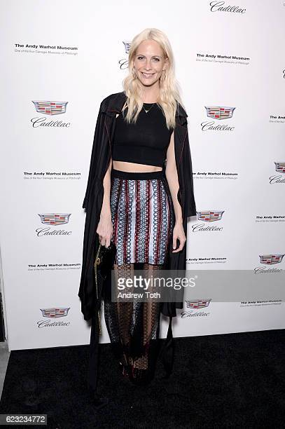 Poppy Delevingne attends 'Letters to Andy Warhol' exhibition opening at Cadillac House on November 14 2016 in New York City