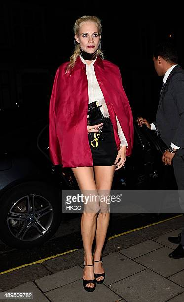 Poppy Delevingne attends Love Magazine's Party at Lulu's Member's Club on September 21 2015 in London England