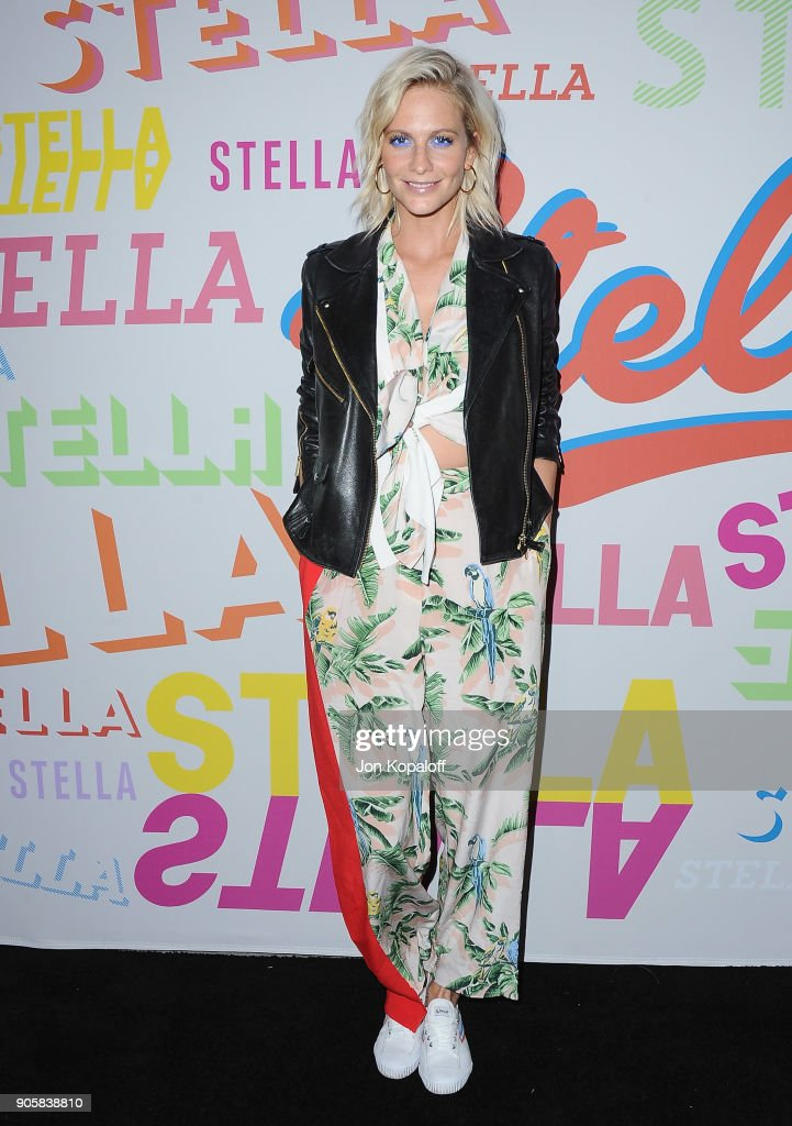 Poppy Delevingne attends Stella McCartney's Autumn 2018 Collection Launch on January 16, 2018 in Los Angeles, California.