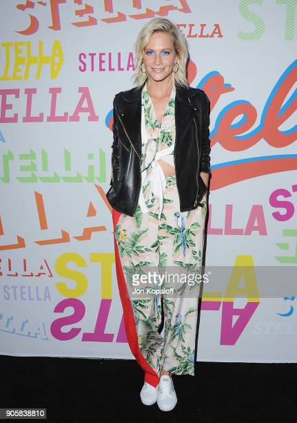 Poppy Delevingne attends Stella McCartney's Autumn 2018 Collection Launch on January 16 2018 in Los Angeles California