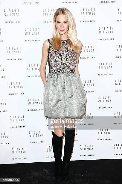 Poppy Delevingne attends Stuart Weitzman Cocktail Party For #Rockrollride short film premiere at Hotel Salomon de Rothschild on September 29 2014 in...