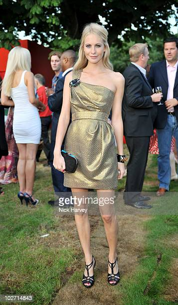 Poppy Delevingne attends the annual Serpentine Gallery summer party at The Serpentine Gallery on July 8 2010 in London England