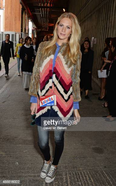 Poppy Delevingne attends the Anya Hindmarch SS15 Presentation during London Fashion Week at Ambika P3 Gallery on September 16 2014 in London England