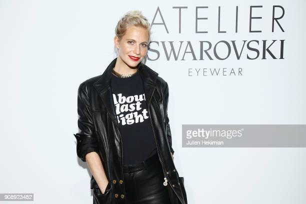 Poppy Delevingne attends the Atelier Swarovski Eyewear Dinner as part of Paris Fashion Week at Hotel Crillon on January 22 2018 in Paris France