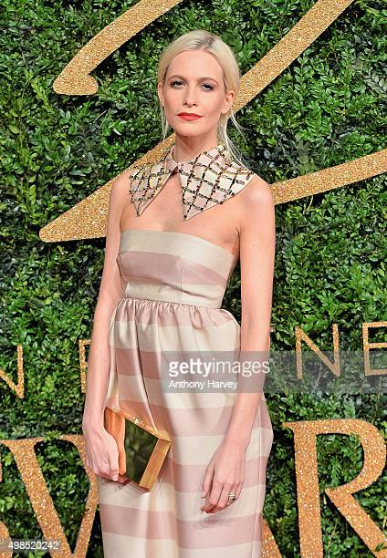 Poppy Delevingne attends the British Fashion Awards 2015 at London Coliseum on November 23, 2015 in London, England.
