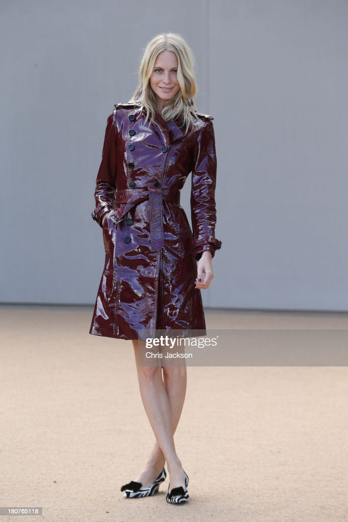 Poppy Delevingne attends the Burberry Prorsum show at London Fashion Week SS14 at Kensington Gardens on September 16, 2013 in London, England.