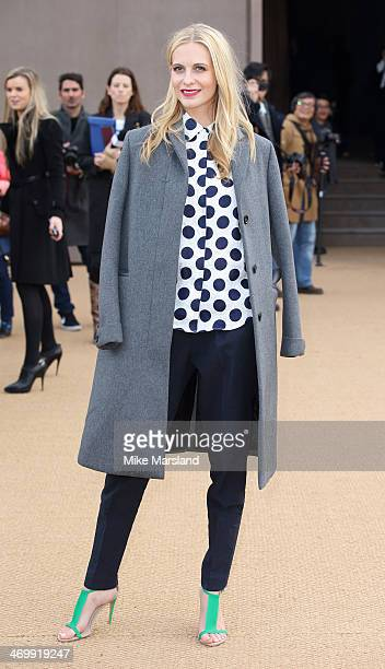 Poppy Delevingne attends the Burberry Prorsum show at London Fashion Week AW14 at on February 17, 2014 in London, England.