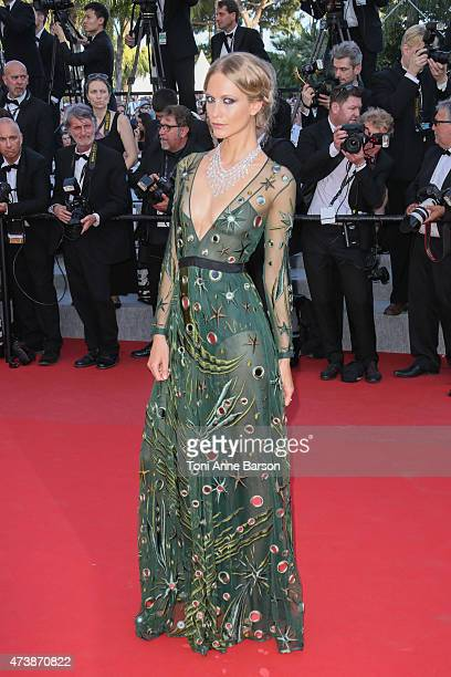 Poppy Delevingne attends the Carol premiere during the 68th annual Cannes Film Festival on May 17 2015 in Cannes France