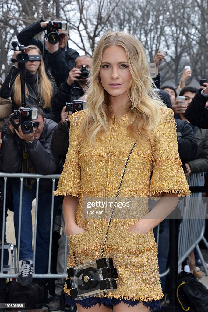Poppy Delevingne attends the Chanel show as part of the Paris Fashion Week Womenswear Fall/Winter 2015/2016 on March 10, 2015 in Paris, France.