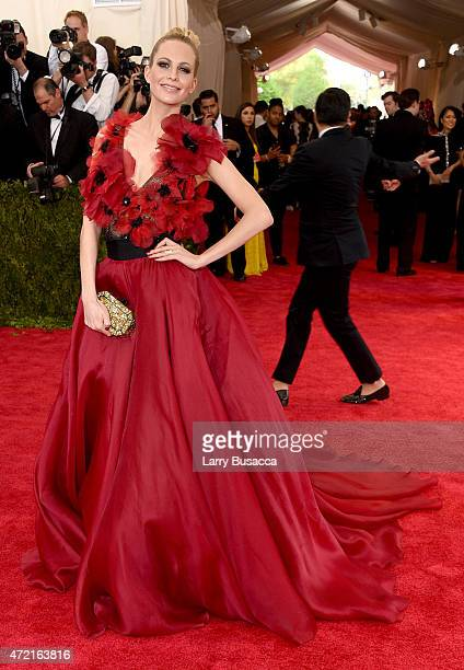 Poppy Delevingne attends the 'China Through The Looking Glass' Costume Institute Benefit Gala at the Metropolitan Museum of Art on May 4 2015 in New...