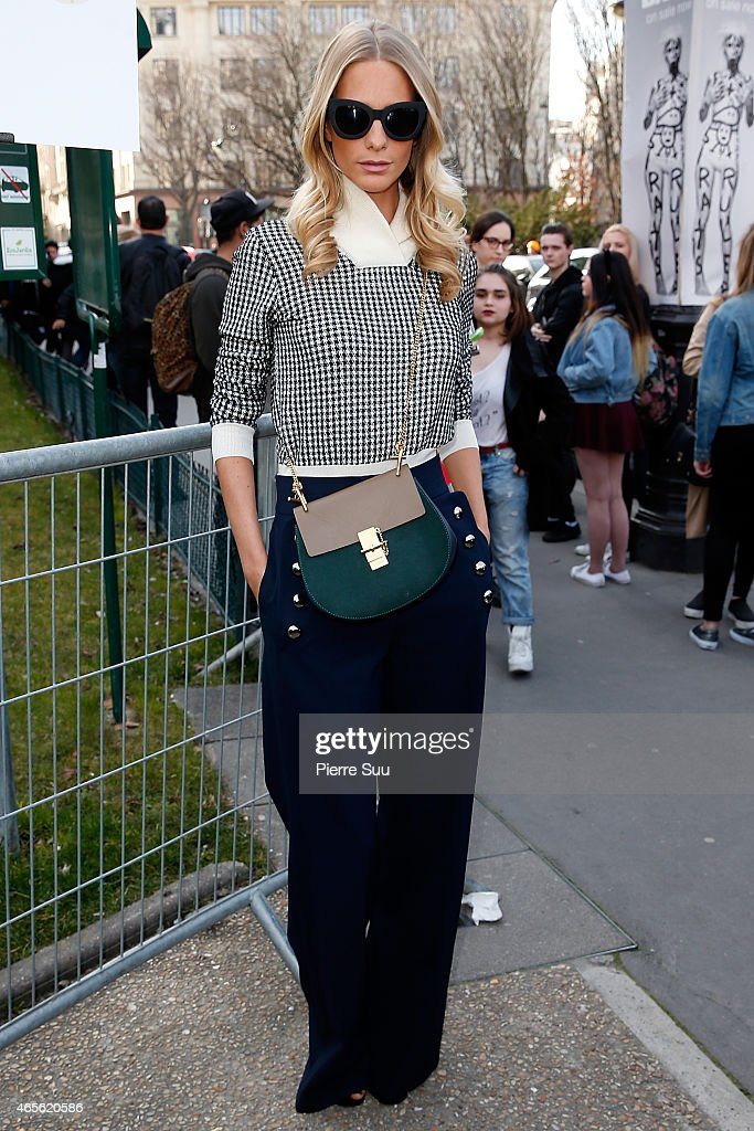 Poppy Delevingne attends the Chloe show as part of the Paris Fashion Week Womenswear Fall/Winter 2015/2016 on March 8, 2015 in Paris, France.