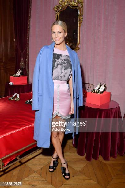 Poppy Delevingne attends the Day Dream Vivier Press Day during Paris Fashion Week Womenswear Fall/Winter 2019/2020 at Fondation Cino et Simone del...