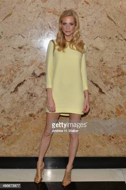 Poppy Delevingne attends the Gucci beauty launch event hosted by Frida Giannini on June 4 2014 in New York City