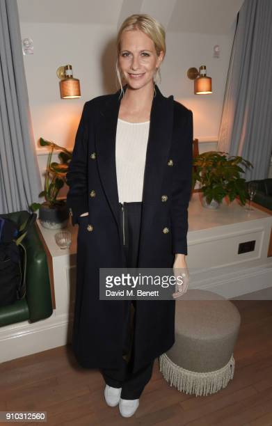 Poppy Delevingne attends the launch of Teresa Tarmey's new 'at home facial system' at Mortimer House sponsored by CIROC on January 25 2018 in London...