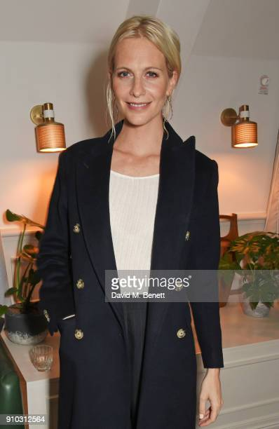 Poppy Delevingne attends the launch of Teresa Tarmey's new 'at home facial system' at Mortimer House, sponsored by CIROC, on January 25, 2018 in...