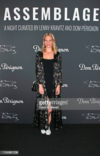 Poppy Delevingne attends the Lenny Kravitz & Dom Perignon 'Assemblage' exhibition, the launch Of Lenny Kravitz' UK Photography Exhibition, on July...