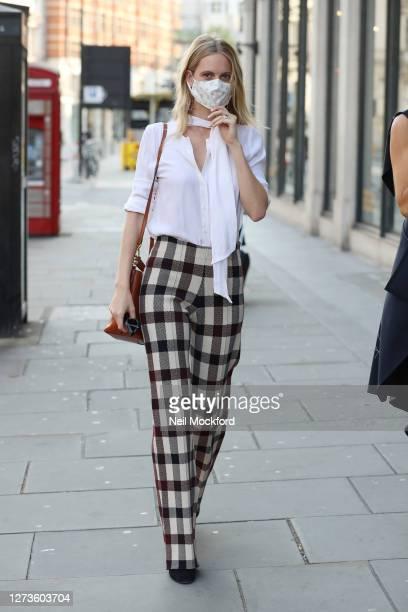 Poppy Delevingne attends the LFW September 2020 Harvey Nichols x My Wardrobe HQ VIP breakfast and panel discussion at Harvey Nichols on September 20...