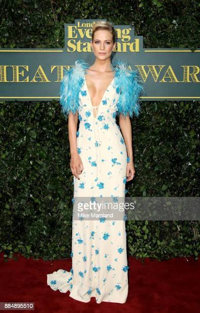 Poppy Delevingne attends the London Evening Standard Theatre Awards at Theatre Royal on December 3 2017 in London England