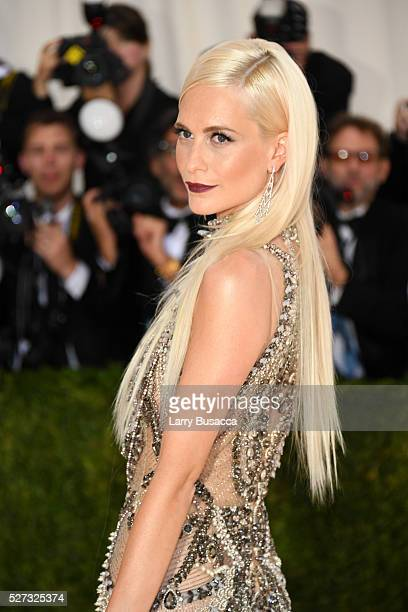 Poppy Delevingne attends the Manus x Machina Fashion In An Age Of Technology Costume Institute Gala at Metropolitan Museum of Art on May 2 2016 in...