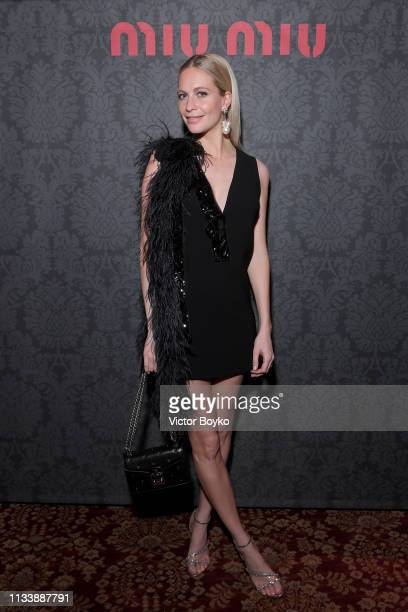 Poppy Delevingne attends the Miu Miu dinner and aftershow party at Raspoutine Club as part of the Paris Fashion Week Womenswear Fall/Winter 2019/2020...