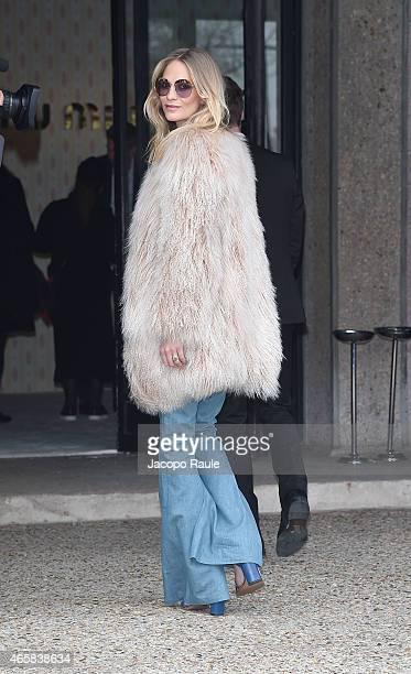 Poppy Delevingne attends the Miu Miu show as part of Paris Fashion Week Fall Winter 2015/2016 on March 11 2015 in Paris France