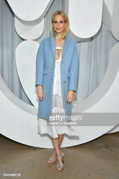 Poppy Delevingne attends the Miu Miu show as part of the Paris Fashion Week Womenswear Spring/Summer 2019 on October 2 2018 in Paris France