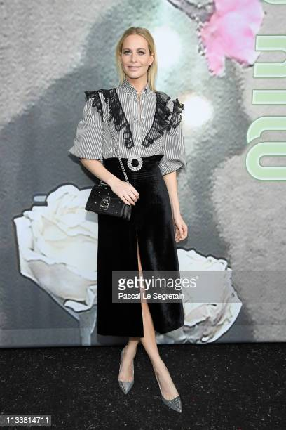 Poppy Delevingne attends the Miu Miu show as part of the Paris Fashion Week Womenswear Fall/Winter 2019/2020 on March 05, 2019 in Paris, France.