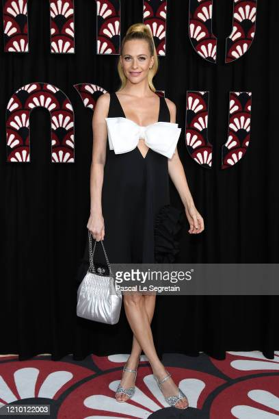 Poppy Delevingne attends the Miu Miu show as part of the Paris Fashion Week Womenswear Fall/Winter 2020/2021 on March 03, 2020 in Paris, France.