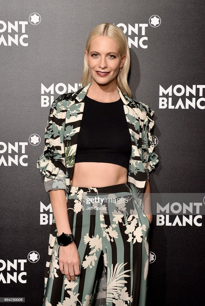 Poppy Delevingne attends the Montblanc Summit launch event at The Ledenhall Building on March 16, 2017 in London, England.