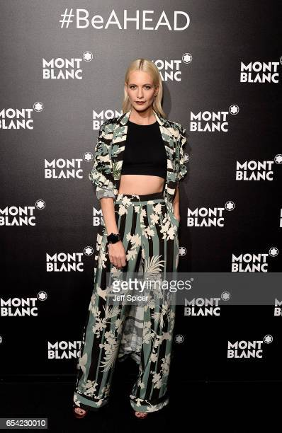 Poppy Delevingne attends the Montblanc Summit launch event at The Ledenhall Building on March 16 2017 in London England