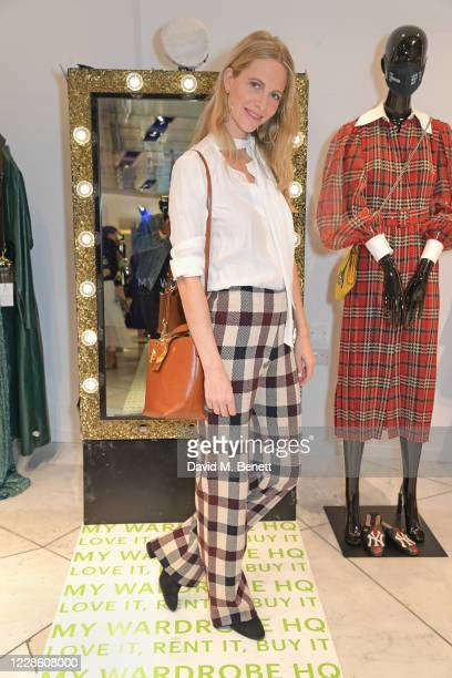 """Poppy Delevingne attends the My Wardrobe HQ LFW panel talk """"The Future Of Fashion In A Post Covid Era"""" during London Fashion Week September 2020 at..."""