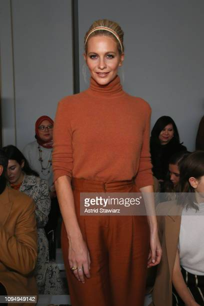 Poppy Delevingne attends the Noon By Noor front row during New York Fashion Week The Shows at Gallery II at Spring Studios on February 7 2019 in New...