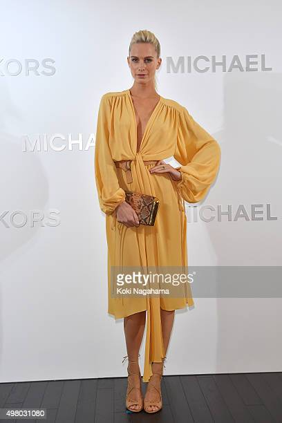 Poppy Delevingne attends the opening event for the Michael Kors Ginza Flagship Store on November 20 2015 in Tokyo Japan
