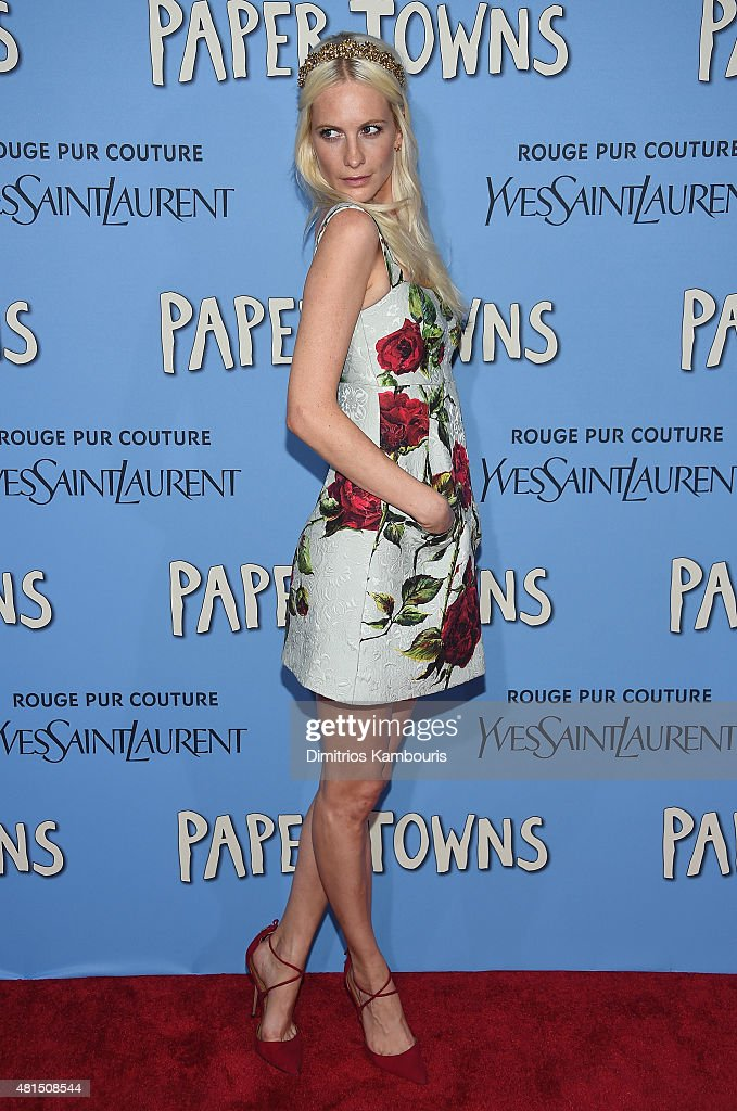 Poppy Delevingne attends the 'Paper Towns' New York Premiere at AMC Loews Lincoln Square on July 21, 2015 in New York City.