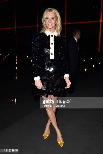 Poppy Delevingne attends the Prada Show during Milan Fashion Week Fall/Winter 2019/20 on February 21 2019 in Milan Italy