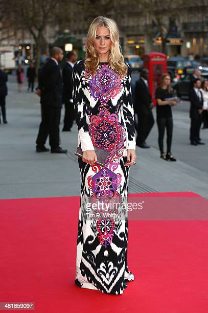 Poppy Delevingne attends the preview of The Glamour of Italian Fashion exhibition at Victoria Albert Museum on April 1 2014 in London England
