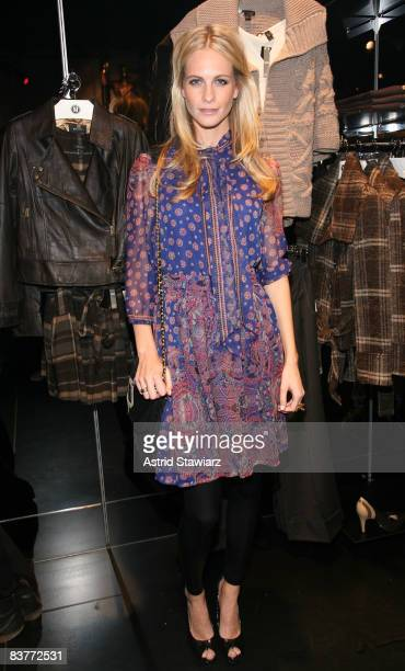 Poppy Delevingne attends the re-launch of MANGO's flagship store on November 20, 2008 in New York City.