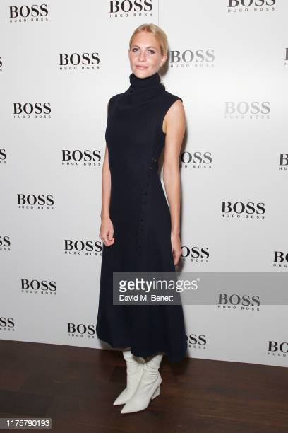 Poppy Delevingne attends the The 'HUGO BOSS' Boat Christening Ceremony and Cocktail Party on September 19, 2019 in London, England.