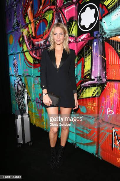 Poppy Delevingne attends the To Berlin and Beyond with Montblanc Reconnect To The World launch event at Metropol Theater on April 24 2019 in Berlin...