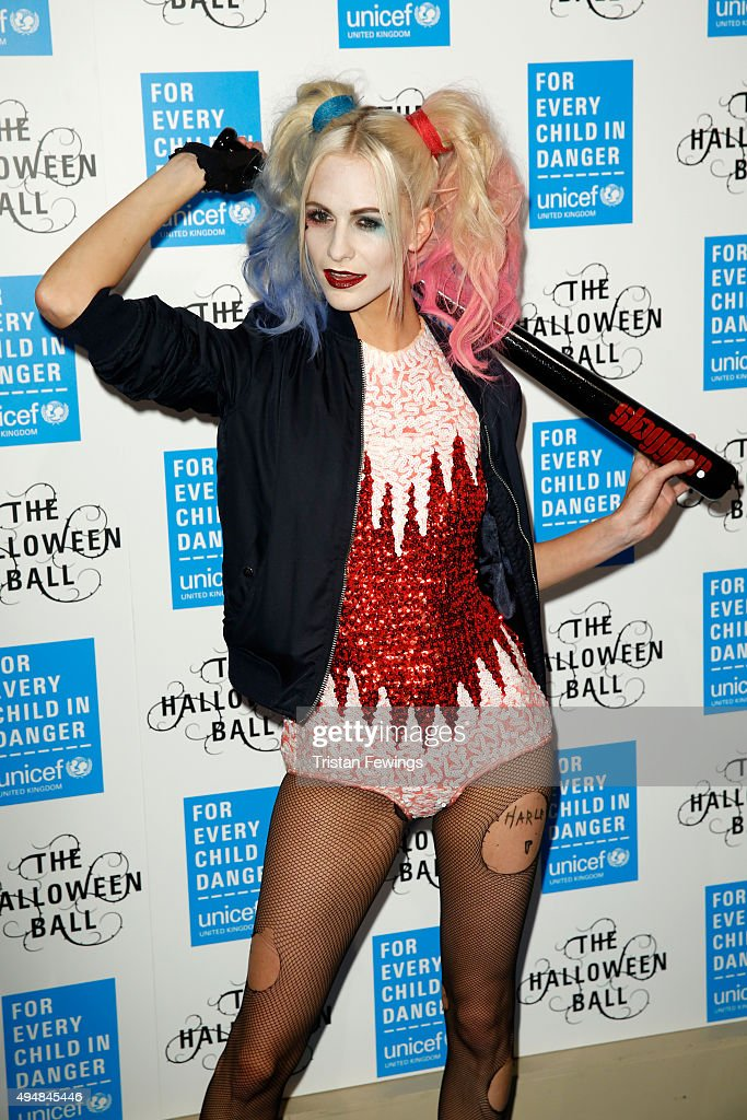 Poppy Delevingne attends the UNICEF Halloween Ball at One Mayfair on October 29, 2015 in London, England.