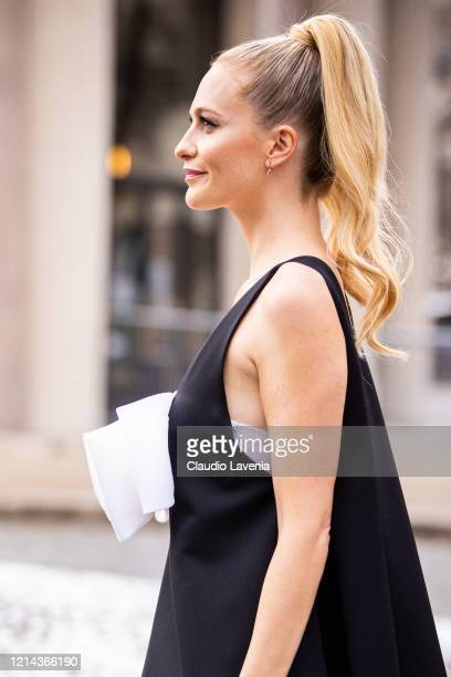 Poppy Delevingne, beauty detail, is seen outside Miu Miu, during Paris Fashion Week - Womenswear Fall/Winter 2020/2021 : Day Nine on March 03, 2020...