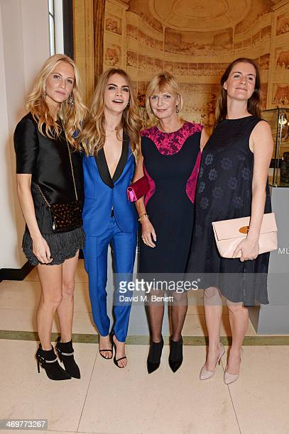 Poppy Delevingne Cara Delevingne Pandora Delevingne and Chloe Delevingne attend the Mulberry dinner to celebrate the launch of the Cara Delevingne...