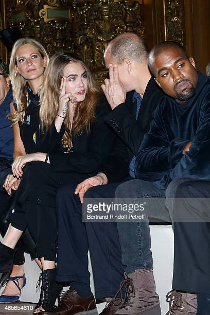 Poppy Delevingne Cara Delevingne Woody Harrelson and Kanye West attend the Stella McCartney show as part of the Paris Fashion Week Womenswear...
