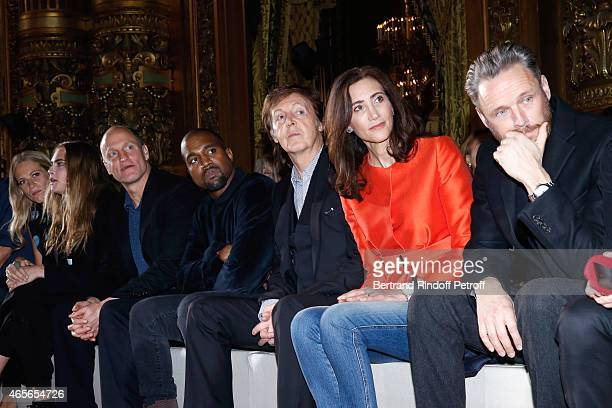 Poppy Delevingne Cara Delevingne Woody Harrelson Kanye West Paul McCartney his wife Nancy Shevell and Husband of Stella Alasdhair Willis attend the...